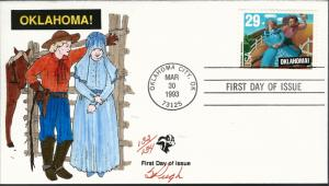 Beautiful Pugh Designed and Painted FDC Broadway Oklahoma  #132 of 0nly 134