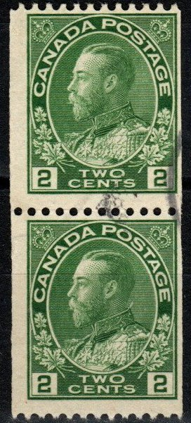 Canada #133 F-VF Used Coil Pair CV $150.00 (X6121)
