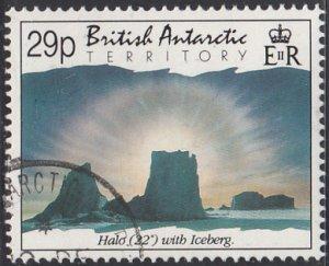 British Antarctic Territory 1992 used Sc #199 29p Halo with iceberg