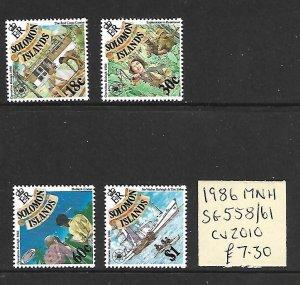 Solomon Islands MNH 558-61 Tourism 1986