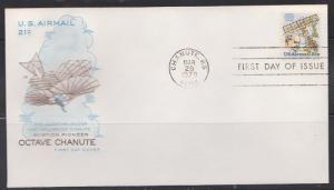 C94 Octave Chanute House of Farnam Unaddressed FDC