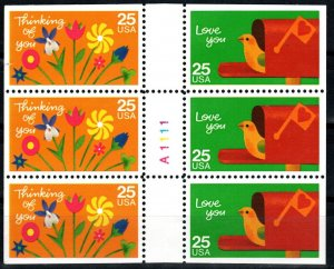 US #2398a  Booklet Pane (X9681)
