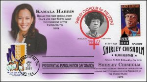 21-012, 2021, Presidential Inauguration, Event Cover, Pictorial Postmark, Kamala