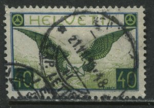 Switzerland 1929 40 centimes Airmail stamp used