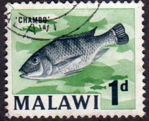 Malawi 6 - Used - 1d Chambo Fish (1964)