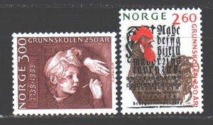 Norway. 1989. 1021-22. Elementary school cock. MNH.