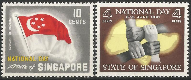 Singapore 1960 SG59-60 National Day Set, unmounted mint