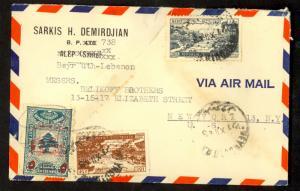 LEBANON 1948 ARMENIA SARKIS H DEMIRDJIAN Corrected CC Cover Sc C140 RA4 to USA