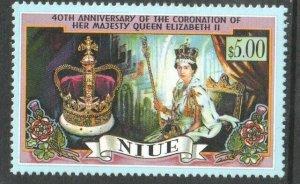 1993   NIUE  - SG: 773 - 40th ANNIVERSARY OF CORONATION  -UNMOUNTED MINT