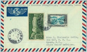 94666  - LAOS - Postal History - AIRMAIL COVER to USA  1955 - MUSIC