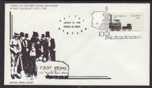 Aripex 88 First Stone B & O Railroad Cover BIN