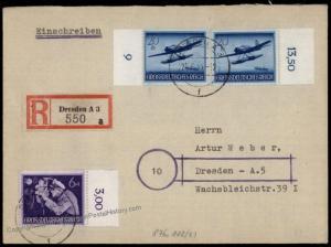 Germany 1944 Helden der Wehrmacht II Heroes Series Registered Cover 71720