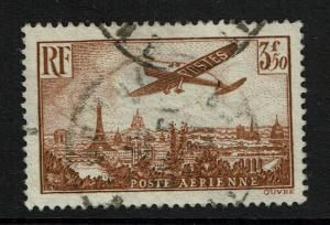 France SC# C13, Used, Very Shallow Center Thin -  Lot 060417