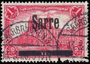 Saar 1920 Mi 17 A I, Sc 17 uvf