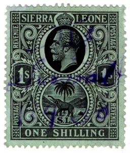 (I.B) Sierra Leone Revenue : Duty Stamp 1/-