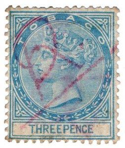 (I.B) Tobago Revenue : Duty Stamp 3d (1884)