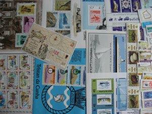 Tristan da Cunha 27 different MNH stamps, souvenir sheets check these out!