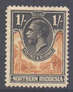 Northern Rhodesia Scott 10 - SG10, 1925 George V 1/- MH*