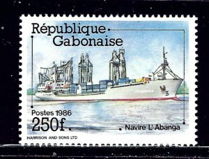 Gabon 599 MNH 1986 Ships    (ap2219)