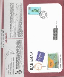 Statue of Liberty Bahamas. #601. 1986  FDC with write up.
