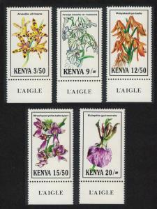 Kenya Orchids 5v Bottom Margins SG#621-625