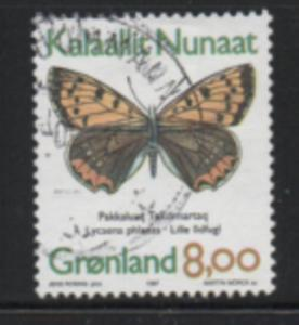 Greenland Sc 318 1997 8 kr Butterfly stamp used