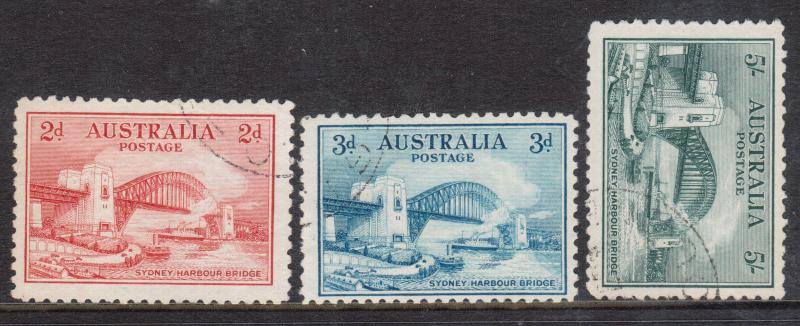 Australia #130 - #132 VF Used Set