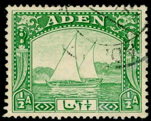 ADEN SG1, ½a yellow-green, FINE USED.