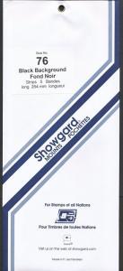 Showgard Stamp Mount 76 / 264 BLACK Background Pack of 5