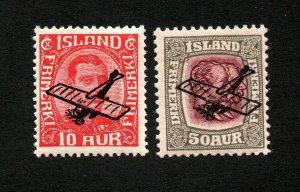 Iceland - SC# C1 & C2 MH     -      Lot 0121124