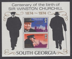 South Georgia 40a Churchill Souvenir Sheet MNH VF