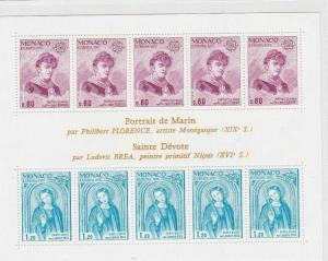 MONACO 1975 ST DEVOTE  STAMPS SHEET MINT NEVER HINGED CAT £70+     R2628