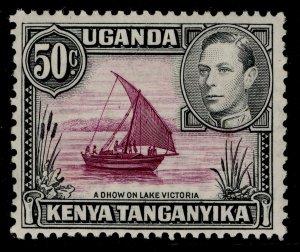 KENYA UGANDA TANGANYIKA GVI SG144, 50c purple & black, M MINT. Cat £23.