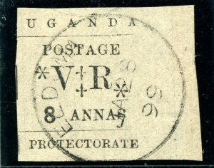 Uganda 1896 QV 8a black very fine used. SG 59. Sc 66.