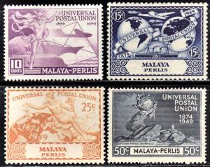 Malaya Perlis Scott 3-6  complete set  F to VF mint OG HHR.