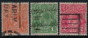 Australia #113-4,6  CV $8.20