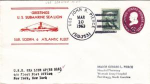 1963, USS Sealion, SS-315, Greetings (N5669)