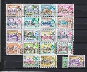 BERMUDA SCOTT #175-191  1962-65 BERMUDA BUILDINGS-  MINT NH/XLIGHT HINGED