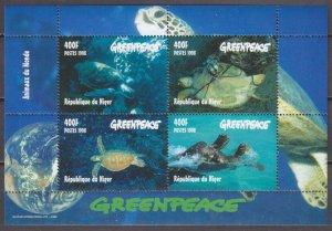 1998 Niger 1472-1475/B Sea fauna 10,00 €