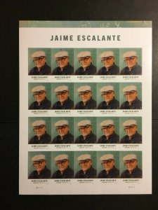 2016 Sheet of Forever Stamps - Jaime Escalante Sc# 5100