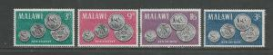 Malawi MNH 22-5 New Coinage On Stamps