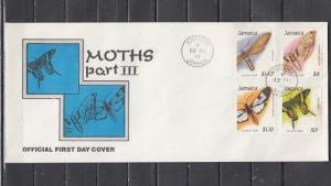 Jamaica, Scott cat. 752-755. Moths Part 3 issue. Long First day cover. ^