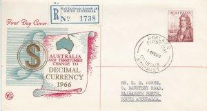 AFD850) 1966 Australia, Decimal Currency, cachet FDC