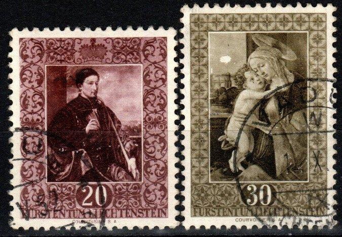 Liechtenstein #261-2 F-VF  Used CV $9.75 (X8365)