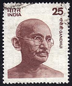 India # 676 used ~ 25p Mahatma Gandhi
