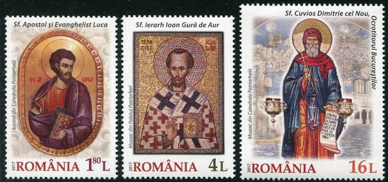 HERRICKSTAMP NEW ISSUES ROMANIA Sc.# 6017-19 Solemn Events