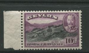 Ceylon -Scott 268 - KGV Definitive Issue - 1935 - MLH - Single 10c Stamp