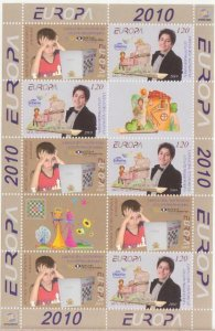 EUROPA 2010 CHESS CEPT NAGORNO KARABAKH ARMENIA COMBI SHEET MNH R17736n