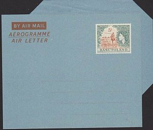 BASUTOLAND QE 5c aerogramme / airletter IMPERIAL wmk fine unused............6379
