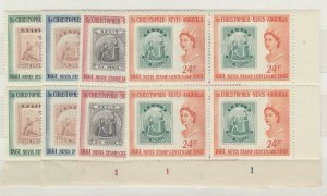 St Christopher Nevis Anguilla QEII 1961 Centenary Blocks Of 4 MNH J6382